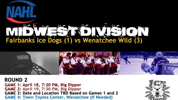 Fairbanks Ice Dogs! Playoffs! Round 2! Friday and Saturday @ The Big Dipper!